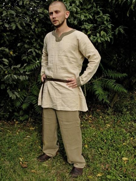 koszula duńska z obszyciem